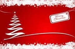 Albero di Natale rosso Immagini Stock