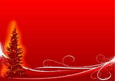 Albero di Natale rosso Fotografia Stock