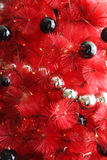 Albero di Natale rosso Immagini Stock Libere da Diritti