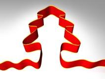Albero di Natale rosso illustrazione di stock