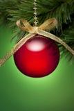 Albero di Natale rosso e verde Fotografie Stock