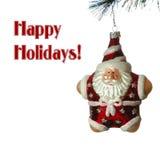 Albero di Natale Santa Fotografia Stock