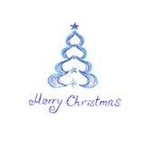 Albero di Natale, schizzo, vettore, illustrazione Fotografia Stock