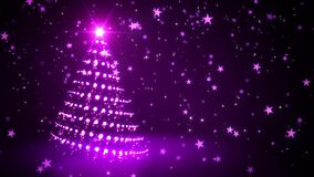 Albero di Natale scintillante porpora royalty illustrazione gratis