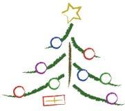 Albero di Natale semplice Immagini Stock Libere da Diritti