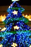 Albero di Natale sfocato Immagine Stock Libera da Diritti