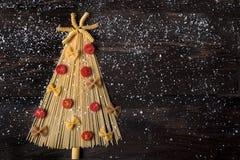 Albero di Natale di spagetti Arkivfoton