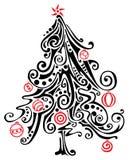 Albero di Natale stilizzato Fotografia Stock Libera da Diritti
