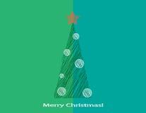 Albero di Natale stilizzato immagine stock libera da diritti