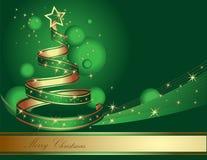 Albero di Natale stilizzato del nastro Fotografia Stock