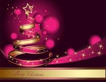 Albero di Natale stilizzato del nastro Fotografie Stock