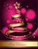 Albero di Natale stilizzato del nastro Illustrazione di vettore Immagini Stock