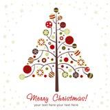 Albero di Natale stilizzato di disegno Fotografia Stock Libera da Diritti