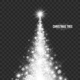Albero di Natale stilizzato sul vettore trasparente del fondo Immagini Stock Libere da Diritti