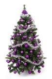 Albero di Natale in studio su priorità bassa bianca Immagini Stock