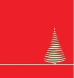 Albero di Natale su colore rosso Fotografie Stock Libere da Diritti