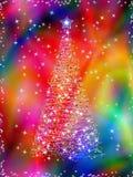 Albero di Natale su priorità bassa astratta Fotografia Stock