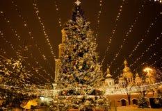 Albero di Natale su Sophia Square Fotografia Stock Libera da Diritti