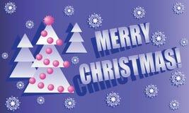 Albero di Natale su un fondo blu-chiaro Fotografia Stock Libera da Diritti