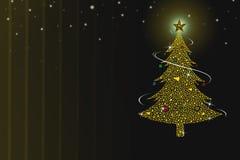 Albero di Natale sui precedenti gialli di texure immagini stock