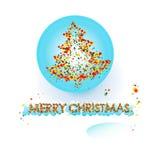 Albero di Natale sulla palla Immagine Stock Libera da Diritti
