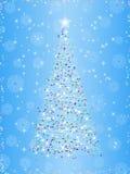 Albero di Natale sulla priorità bassa di inverno Immagine Stock Libera da Diritti