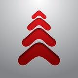 Albero di Natale techno rosso 3d Fotografie Stock Libere da Diritti