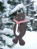 Albero di Natale tedesco con gli ornamenti casalinghi rr Fotografia Stock Libera da Diritti