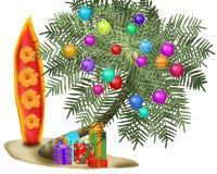Albero di Natale tropicale Fotografia Stock Libera da Diritti