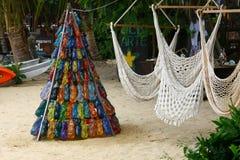 Albero di Natale in tropici Fotografia Stock