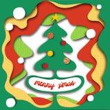 Albero di Natale in un foro! (può nascondere il testo) Fotografia Stock Libera da Diritti