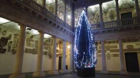 Albero di Natale in università di Padova Immagine Stock