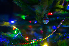 Albero di Natale variopinto della sfuocatura Immagine Stock Libera da Diritti