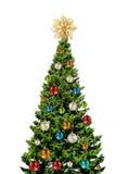 Albero di Natale variopinto su bianco Immagini Stock
