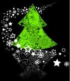 Albero di Natale verde Fotografia Stock