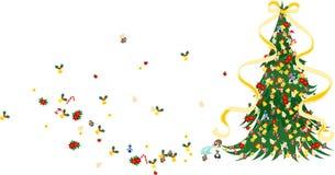 Albero di Natale - verde Fotografie Stock