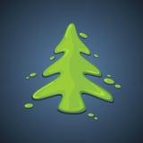 Albero di Natale verniciato illustrazione vettoriale