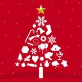 Albero di Natale (vettore) Fotografie Stock Libere da Diritti