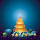 Albero di Natale, vettore Immagine Stock Libera da Diritti