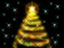 albero di Nuovo-anno Fotografia Stock