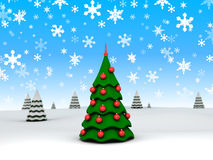albero di Nuovo-anno Fotografia Stock Libera da Diritti
