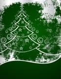 Albero di nuovo anno su verde Fotografia Stock
