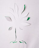 Albero di origami Immagini Stock