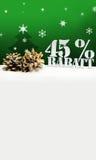 Albero di pinecone di Natale sconto di Rabatt di 45 per cento Fotografie Stock
