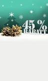 Albero di pinecone di Natale sconto di Rabatt di 45 per cento Immagine Stock