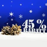 Albero di pinecone di Natale sconto di Rabatt di 45 per cento Fotografia Stock