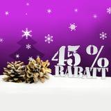 Albero di pinecone di Natale sconto di Rabatt di 45 per cento Fotografie Stock Libere da Diritti