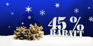 Albero di pinecone di Natale sconto di Rabatt di 45 per cento Fotografia Stock Libera da Diritti