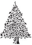 Albero di pino artistico Immagini Stock Libere da Diritti