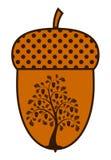 Albero di quercia in ghianda illustrazione vettoriale